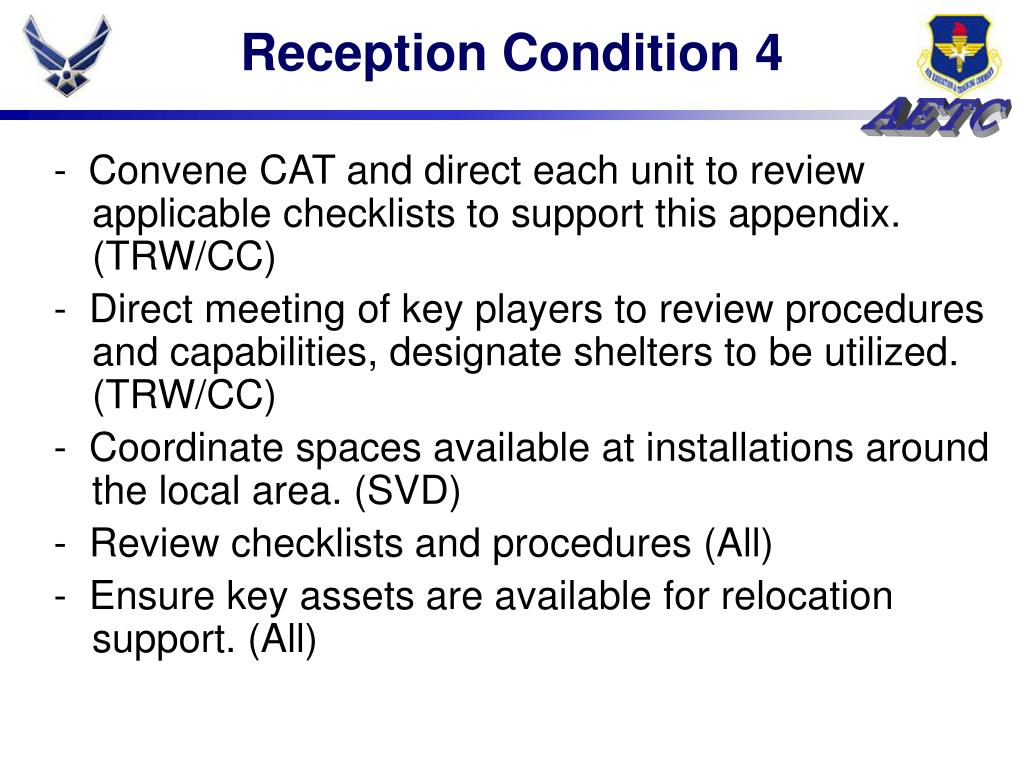 Reception Condition 4