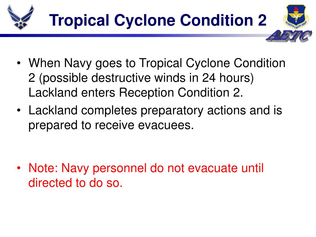 Tropical Cyclone Condition 2