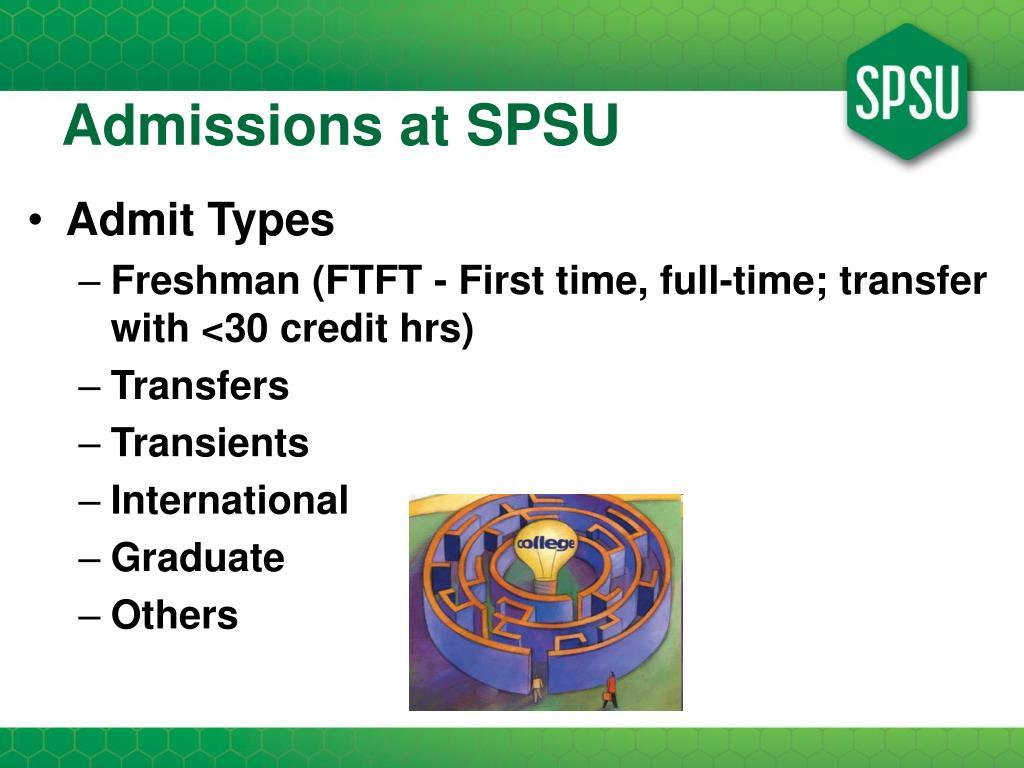 Admissions at SPSU