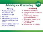 advising vs counseling