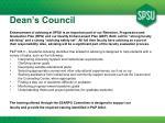 dean s council