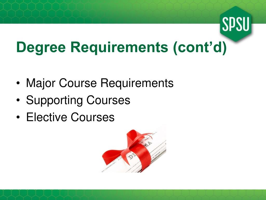 Degree Requirements (cont'd)
