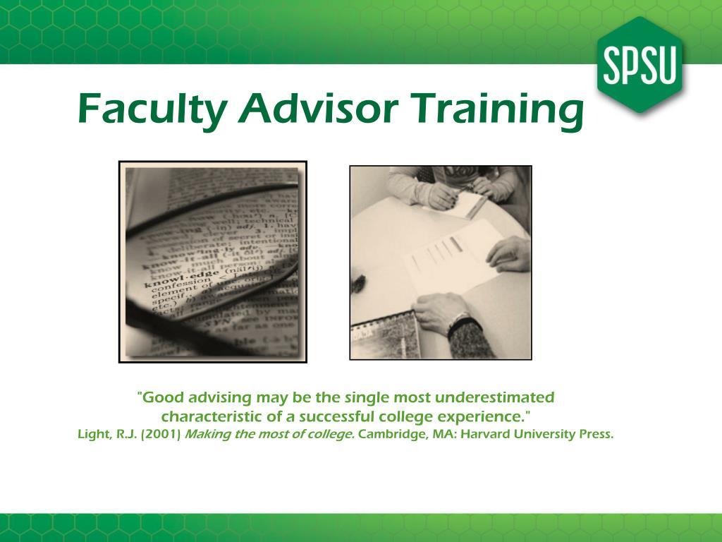 Faculty Advisor Training