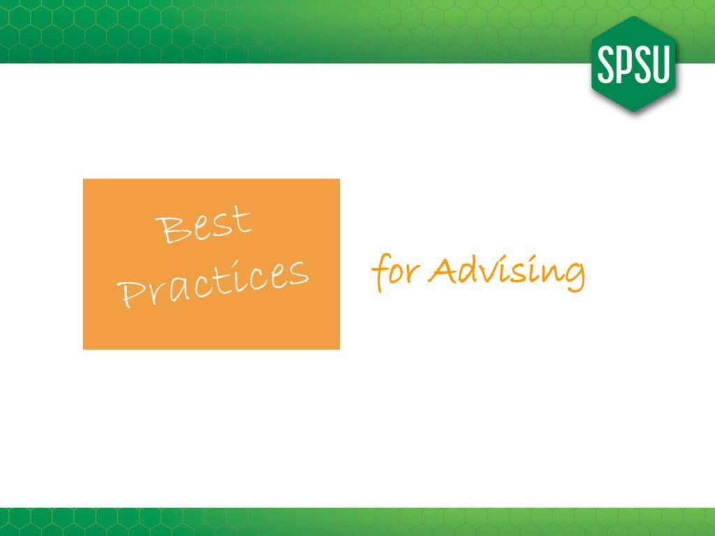 for Advising