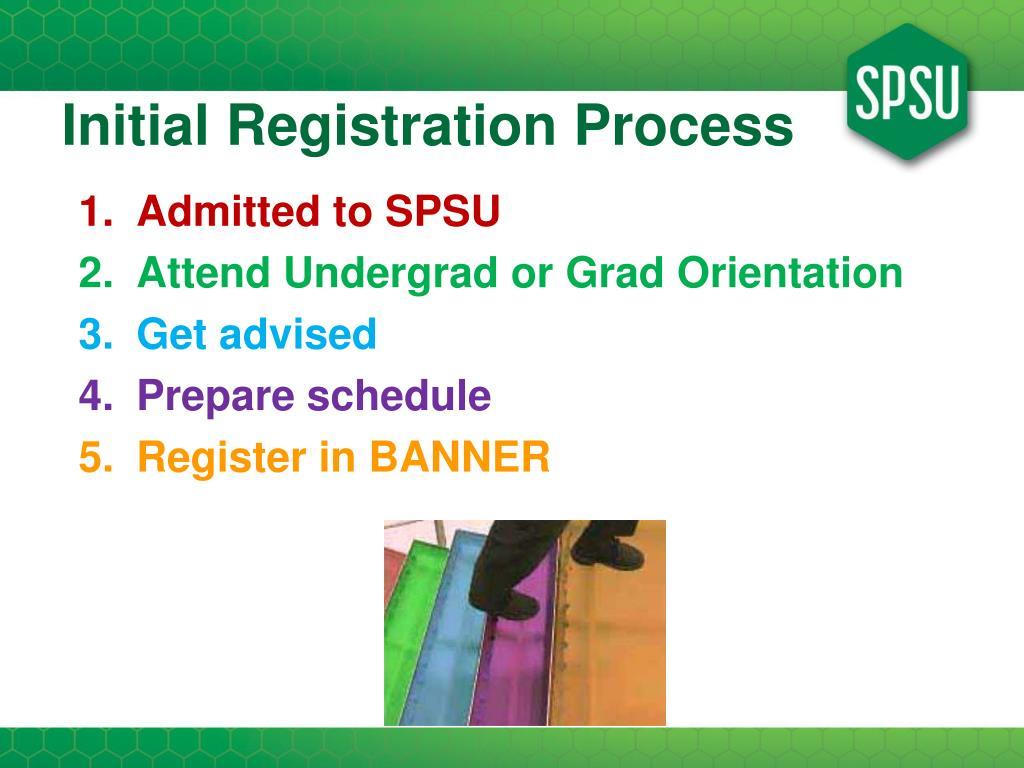 Initial Registration Process