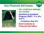 key financial aid issues