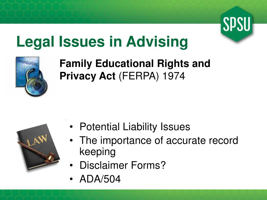 Legal Issues in Advising