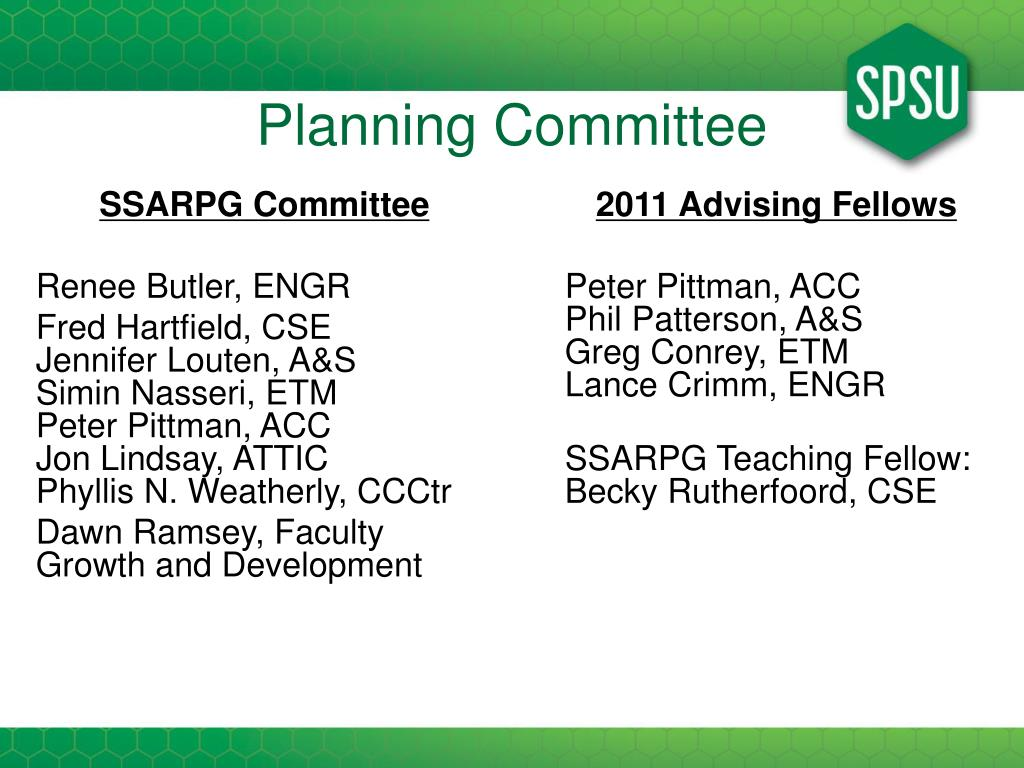 SSARPG Committee