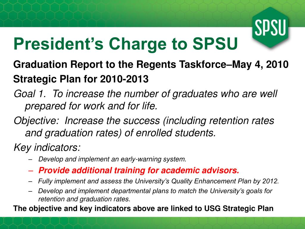 President's Charge to SPSU