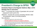 president s charge to spsu