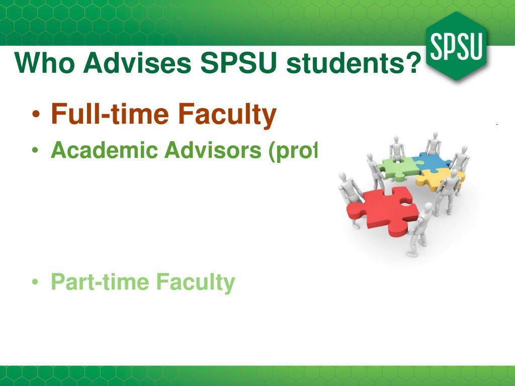 Who Advises SPSU students?
