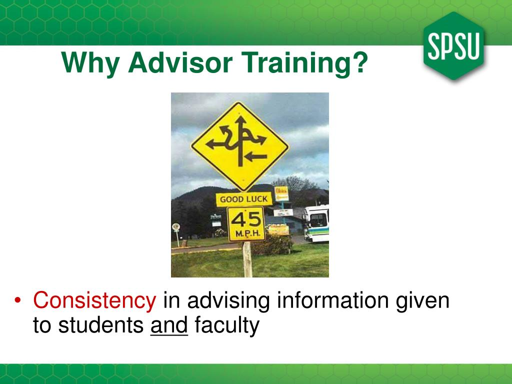 Why Advisor Training?