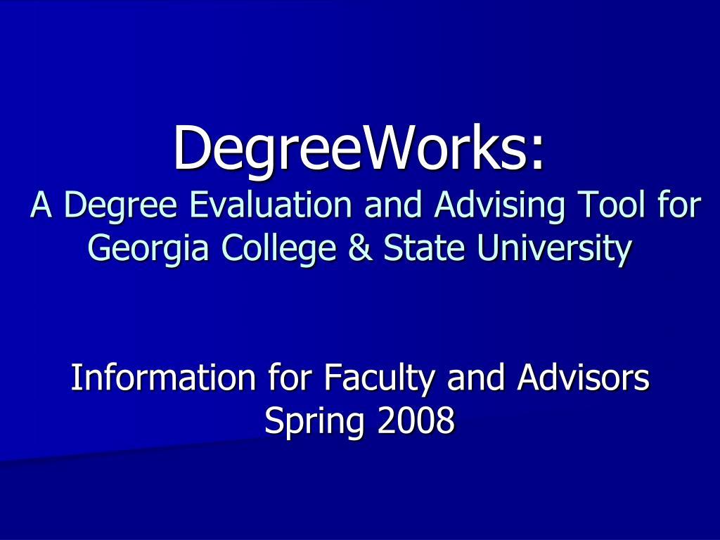 DegreeWorks: