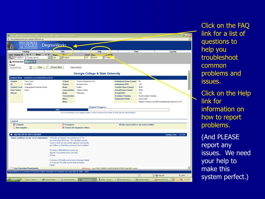 Click on the FAQ link for a list of questions to help you troubleshoot common problems and issues.