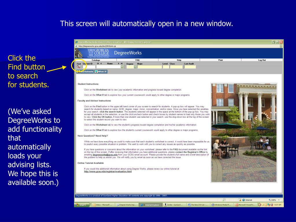 This screen will automatically open in a new window.