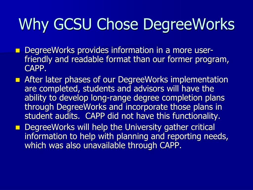 Why GCSU Chose DegreeWorks