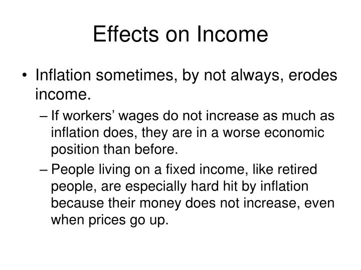 Effects on Income