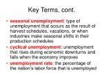 key terms cont