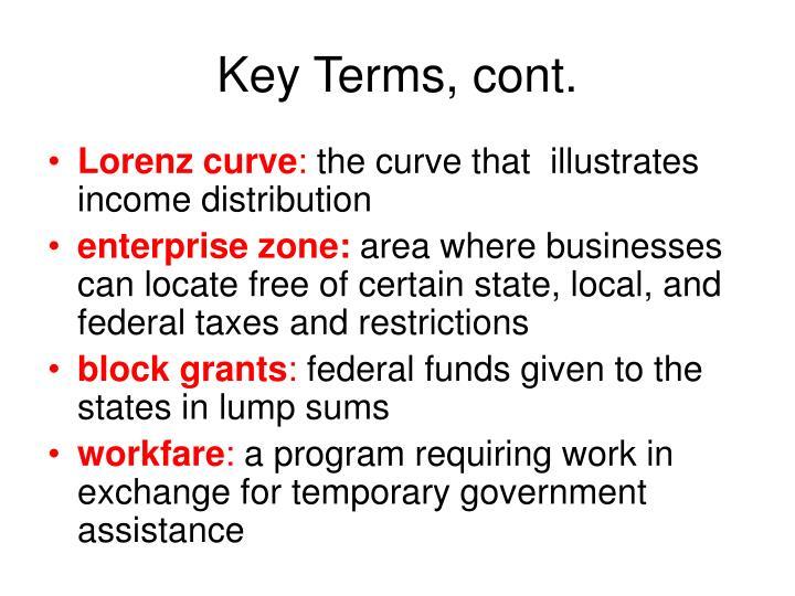 Key Terms, cont.