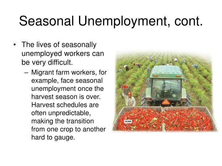 Seasonal Unemployment, cont.
