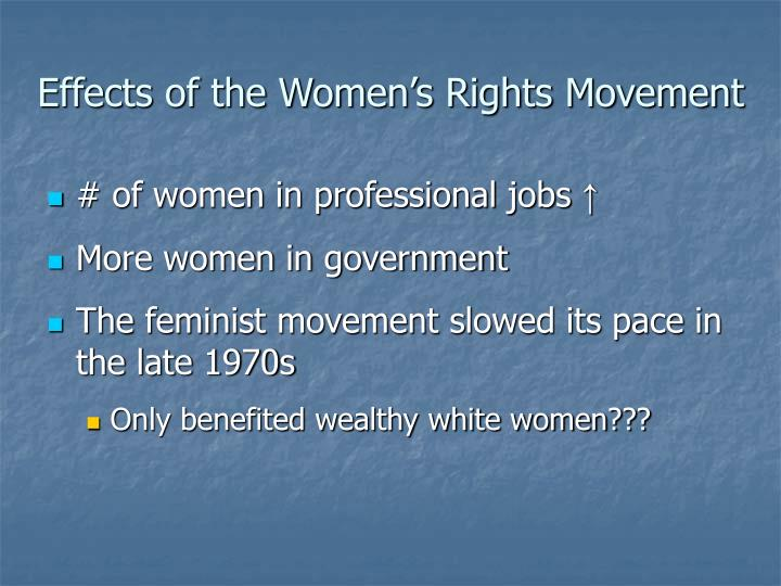 Effects of the Women's Rights Movement
