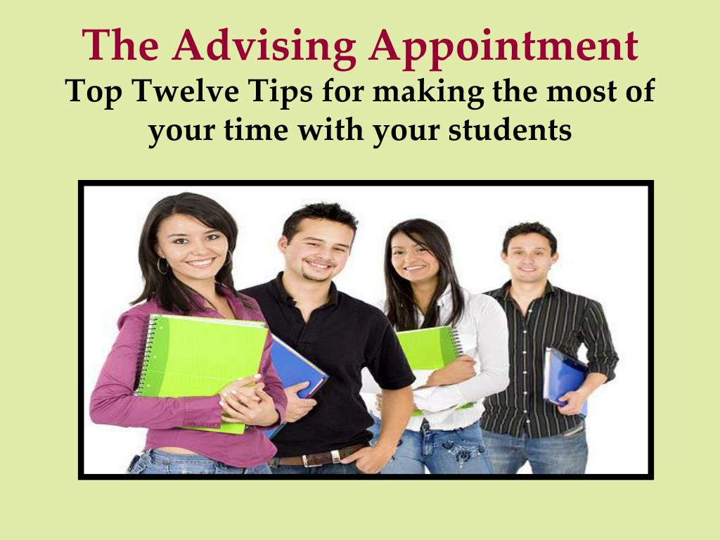 The Advising Appointment
