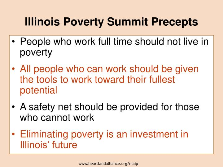 Illinois Poverty Summit Precepts