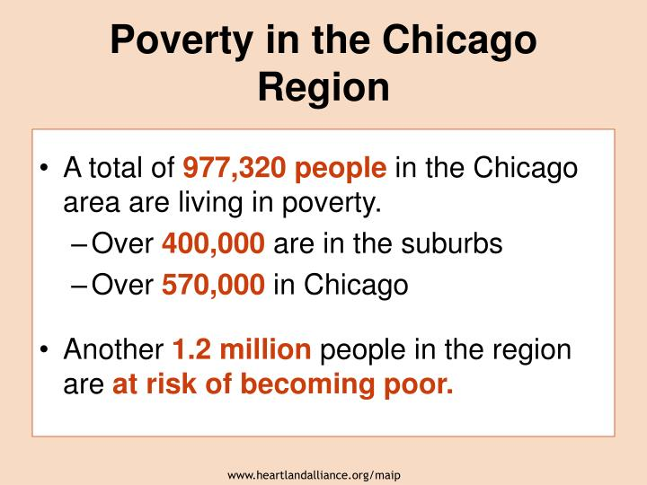 Poverty in the Chicago Region
