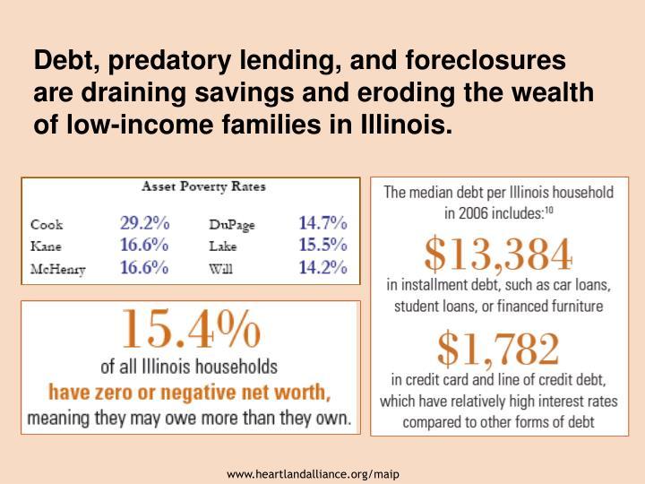 Debt, predatory lending, and foreclosures