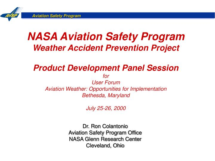 NASA Aviation Safety Program