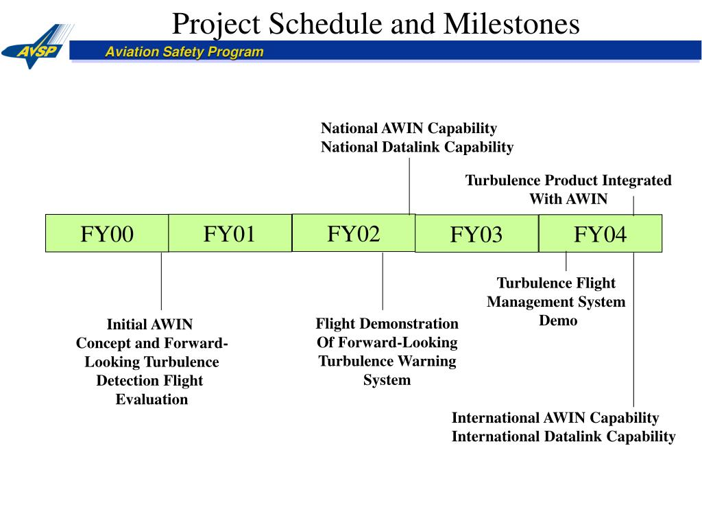 Project Schedule and Milestones