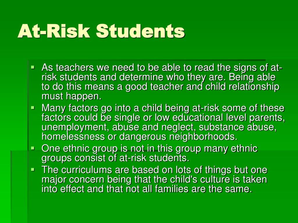 At-Risk Students