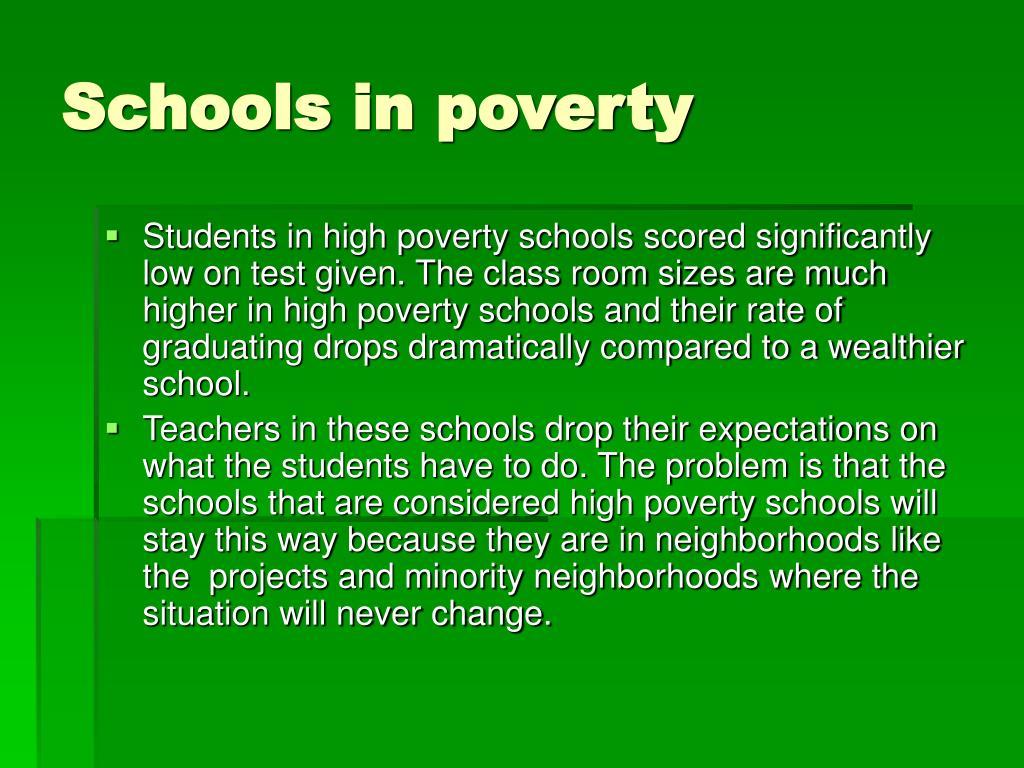 Schools in poverty