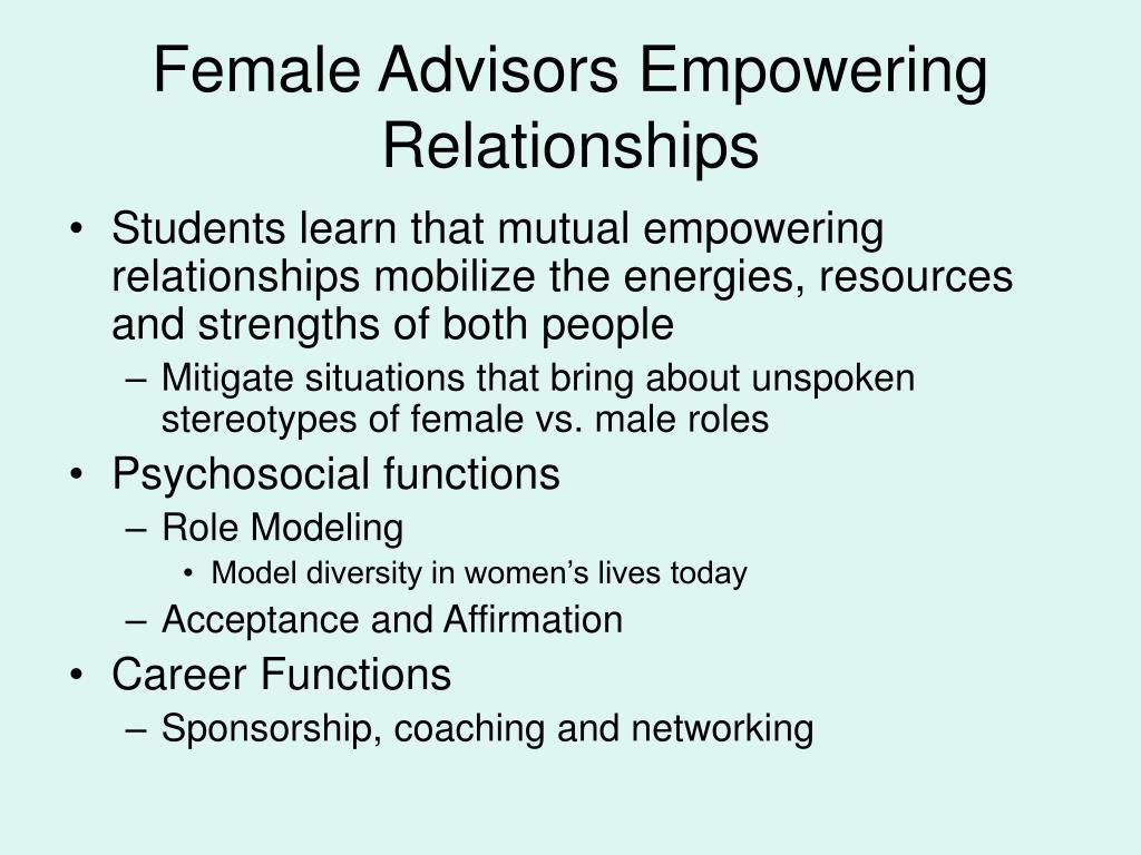 Female Advisors Empowering Relationships