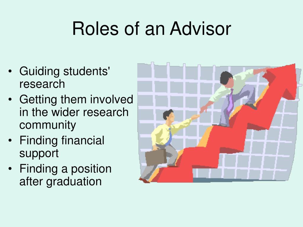 Roles of an Advisor