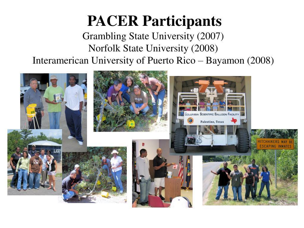 PACER Participants