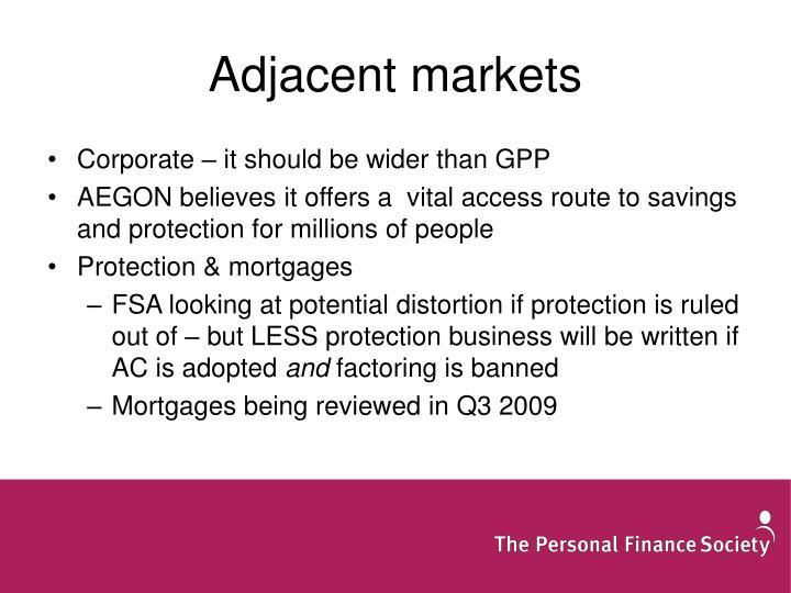 Adjacent markets