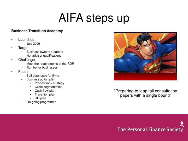 AIFA steps up