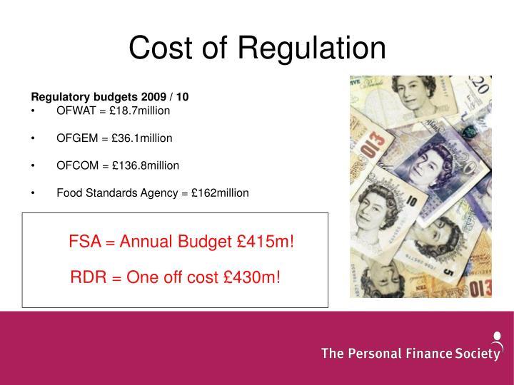 Cost of Regulation