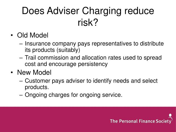 Does Adviser Charging reduce risk?