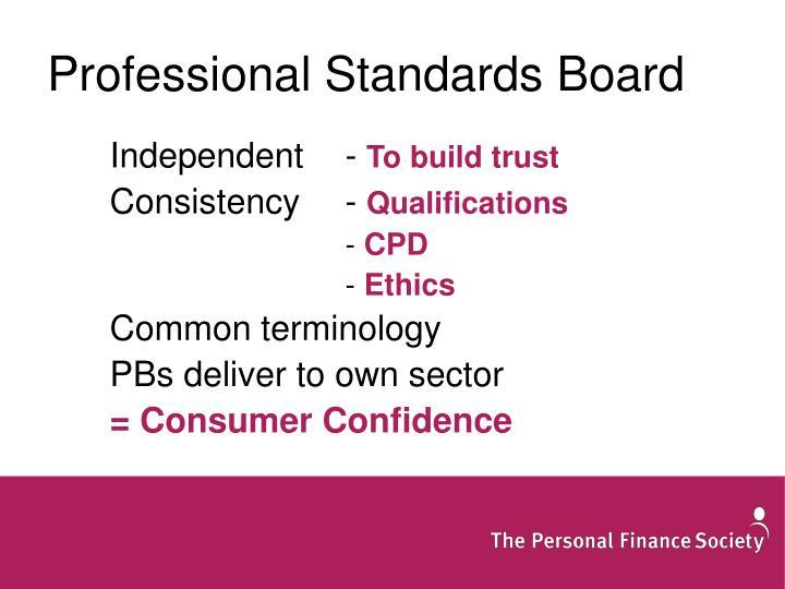 Professional Standards Board