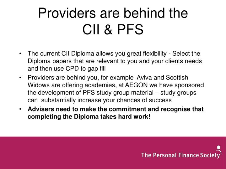 Providers are behind the