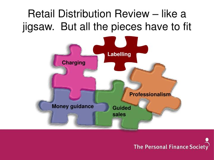 Retail Distribution Review – like a jigsaw.  But all the pieces have to fit