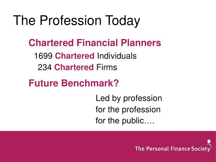 The Profession Today