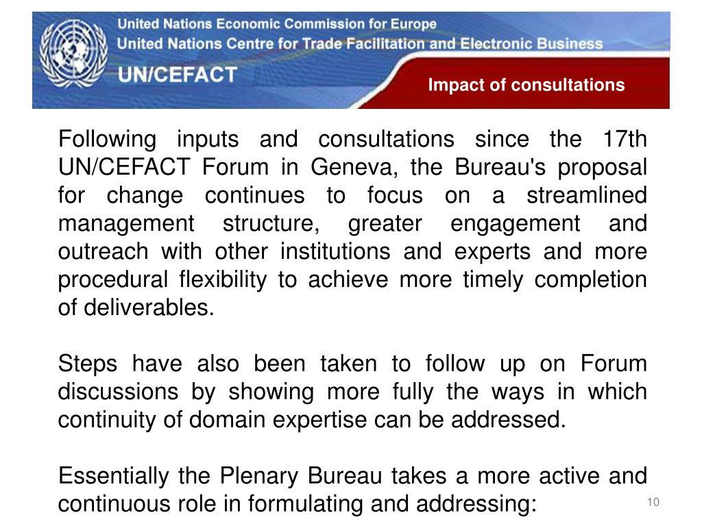 Impact of consultations