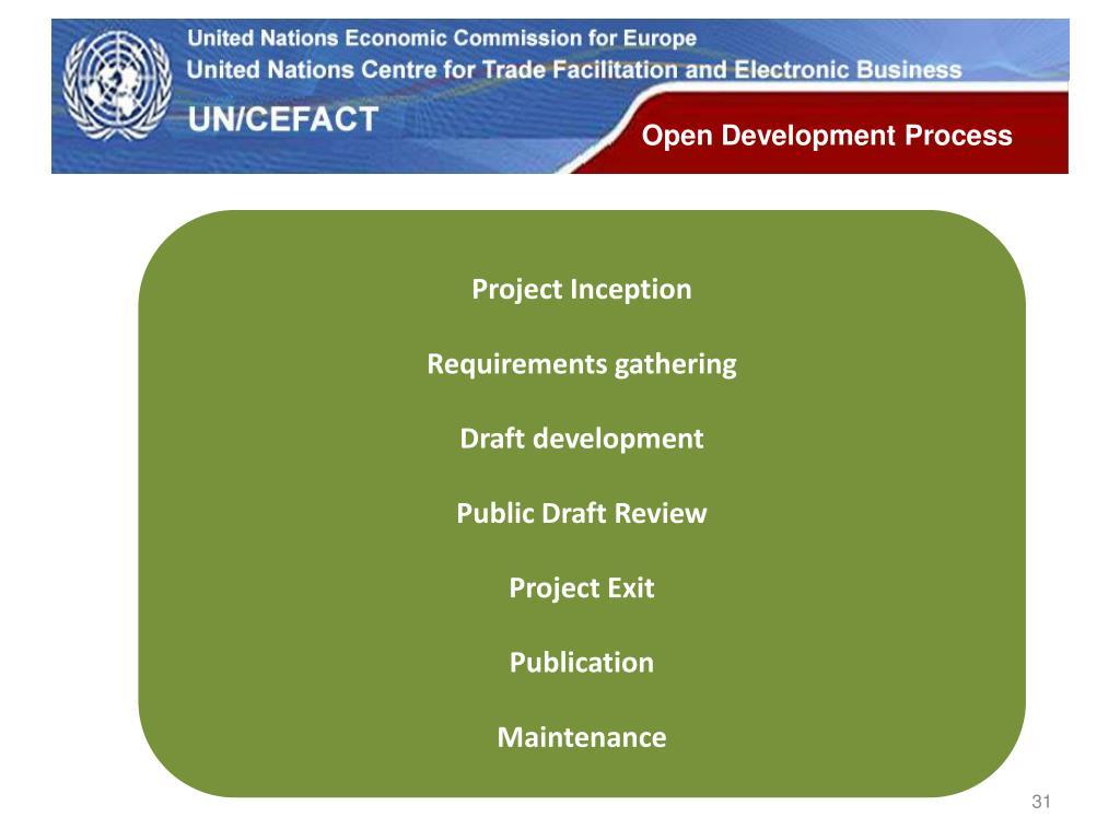 Open Development Process