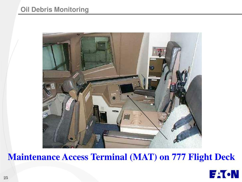 Maintenance Access Terminal (MAT) on 777 Flight Deck