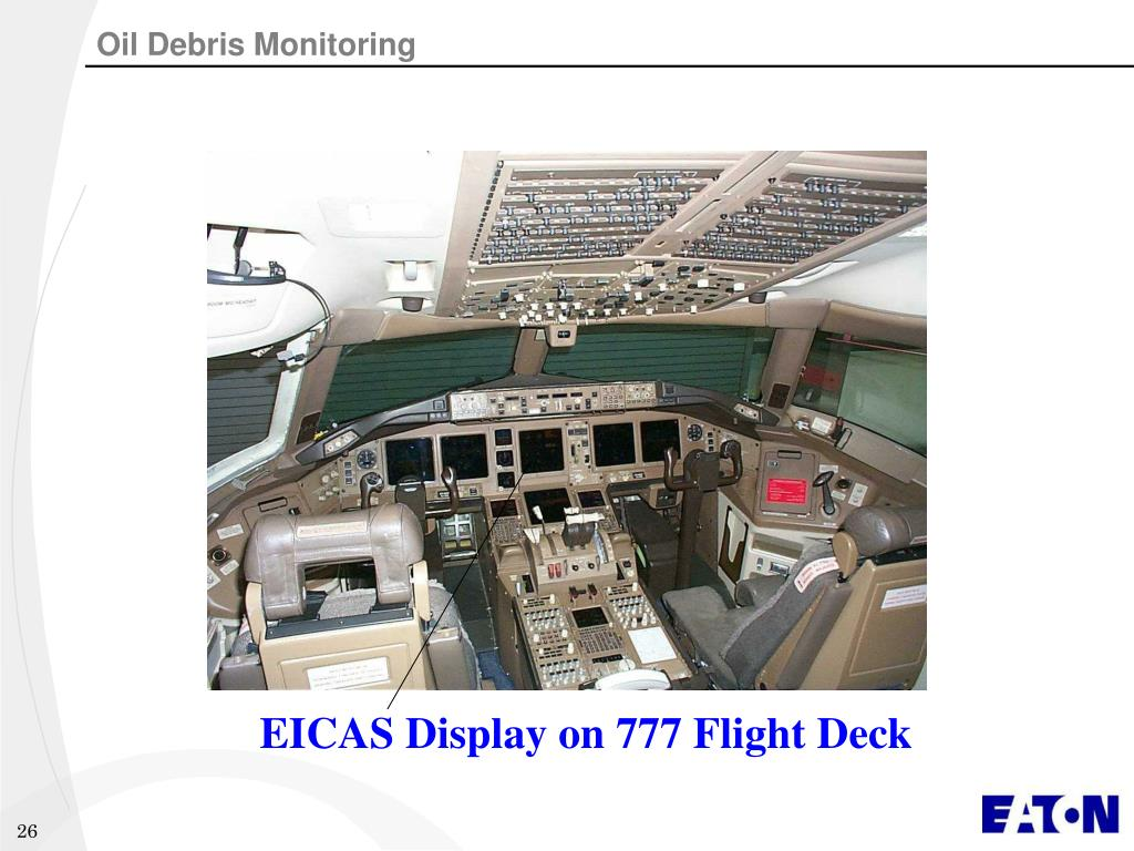 EICAS Display on 777 Flight Deck