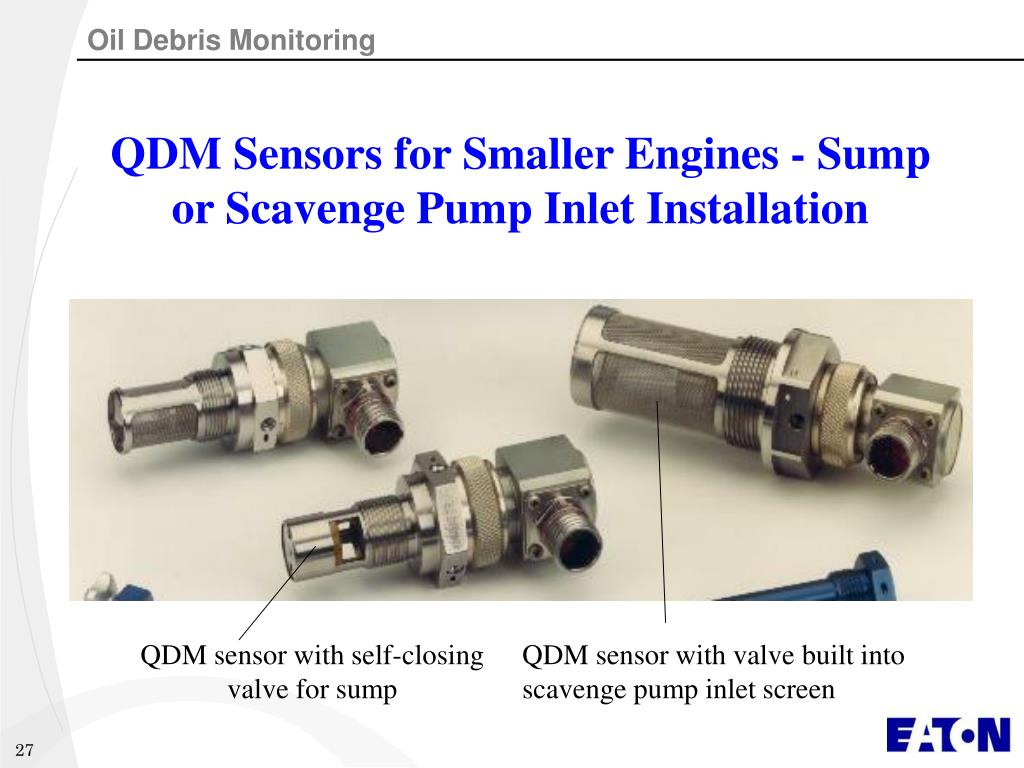QDM Sensors for Smaller Engines - Sump or Scavenge Pump Inlet Installation