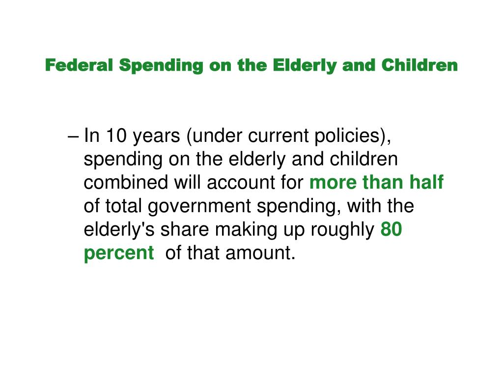 Federal Spending on the Elderly and Children